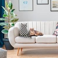 Produto Almofada pet em formato de Gato para cama ou sofá