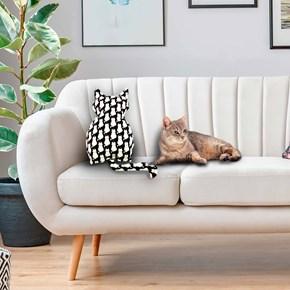 Almofada pet em formato de Gato para cama ou sofá