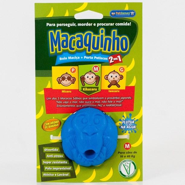 Brinquedo porta petiscos interativo Macaquinho M para cães