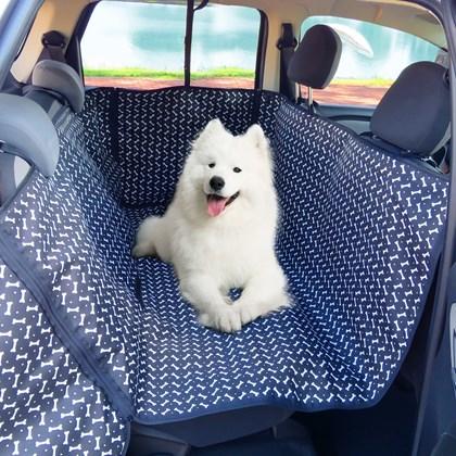 Capa protetora pet impermeável PLUS para levar cães no carro (Protege banco e portas!)