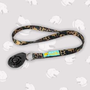 Clicker para adestramento cães Chalesco + cordão de pescoço