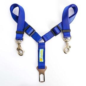 Guia DUPLA para cinto de segurança Safe Travel para cães no carro