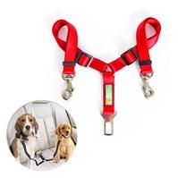 Produto Guia DUPLA para cinto de segurança Safe Travel para cães no carro