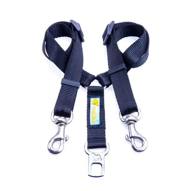 Guia DUPLA para cinto Safe Travel Premium para cães no carro