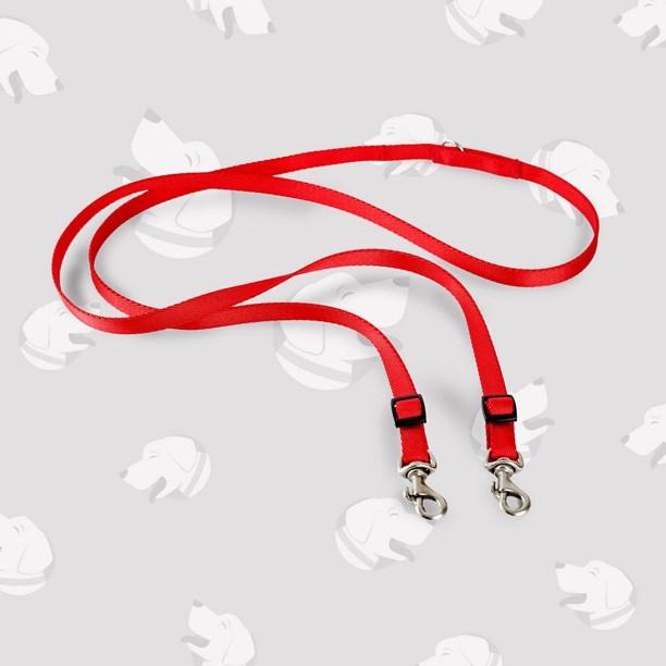 Guia Versatile para passeio com 1 ou 2 cães sem usar as mãos