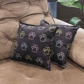 Jogo com 2 almofadas estampadas para cães para uso na cama ou sofá