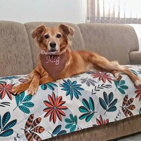 Manta pet Decor tecido duplo impermeável sob medida para sofá