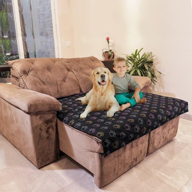 Manta Pet Luxo impermeável sob medida para cama ou sofá