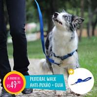 Produto Peitoral anti puxão Walk para passeio e adestramento de cães