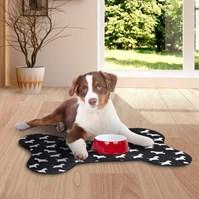 Produto Tapete em forma de osso para cães com fundo impermeável